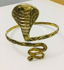 Gold Snake Arm Cuff, Armlet, Egyption, Tribal, Ethnic
