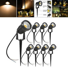 8PCS Landscape Lighting Led Kit Outdoor 5W Low Voltage Garden Lawn Path 12V-24V