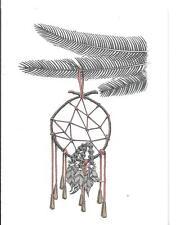 "PAM TILLIS 4""x 5 1/2"" CHRISTMAS CARD WALKING SHIELD AMERICAN INDIAN SOCIETY"