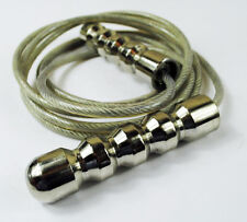 Senshi Japan Deluxe Skipping Speed Rope WIRE Heavy Steel Handles Boxer Rope NEW