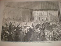 Queen Victoria presentations on Holborn Viaduct London 1869 old print