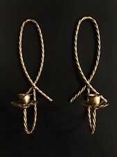 (2) Vintage Home Interior Homco Metal Twisted Rope Sconce / Candle Holders