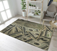 Area Rugs Carpet Floor Rug US Dollar Money Modern Home Decor Large Mat Non Slip