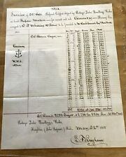 * Z14 Quincy Mining ship Invoices  Ships Propeller Pewabic & Propeller Meteor
