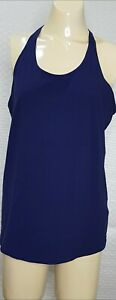REEBOK Womens Size L 12-14 Activewear Top Sports Shelf Bra Racer Back Navy  Blue