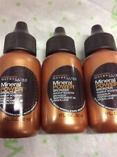 3 X Maybelline Mineral Power Bronzer Makeup Booster with micro mineral FULL SIZE