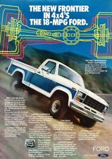 1981 Ford F-150 Pickup Truck 4x4 Flareside Advertisement Print Art Car Ad A98