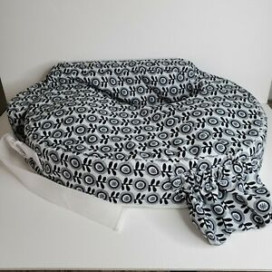Brest Friend Nursing Pillow Black and White with Flowers