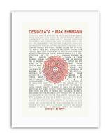 DESIDERATA MANDALA EHRMANN INSPIRATION Poster YES Quote Canvas art Prints