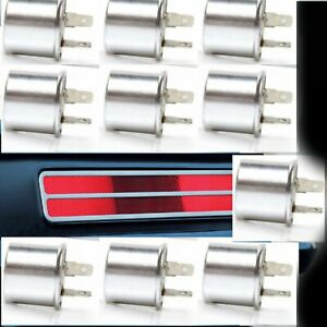10 PACK  12V Electronic Turn Signal Flasher Relay NON 2 Prong - Round Style