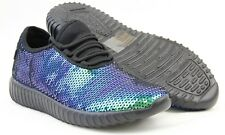 Women Comfort Sneakers Lightweight Sequin Hologram Style Shiny Bling Party Shoes