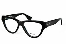 MIU MIU 10N 1AB-1O1 EYEGLASS FRAMES Black Cateye 54mm - 26