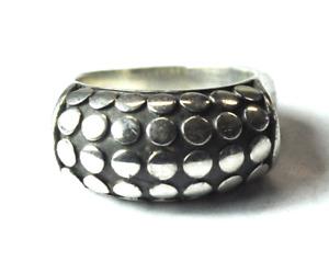 Sterling Silver John Hardy Dot Ring Band 11mm Size 8-3/4 Euro Shank