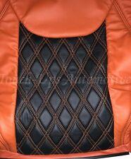 2013-2018 Jeep Wrangler JK KATZKIN Black Tangerine Leather seats TekStitch 4dr