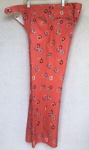 Vtg PGA Jaymar Sansabelt Golf Pants Geometric Rings Red Mens 34 x 29