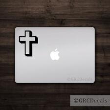Cross -- Mac Apple Logo Cover Laptop Vinyl Sticker MacBook Decal Angel God Faith