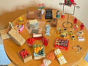Dollhouse Miniature General Store Room box coffee shop Veggie stand lot smalls