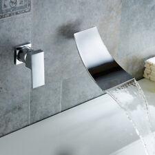 Bathroom Basin Chrome Taps Wall Mounted Waterfall Bathtub Sink Mixer Bath Tap