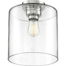 Nuvo Lighting Chantecleer 1 Light Semi Flush, Nickel/Clear Glass - 60-6778