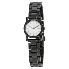 DKNY White Dial Black PVD Ladies Watch NY2189