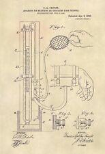 Official Blood Pressure Cuff US Patent Art Print - Sphygmomanometer -517