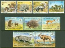 EDW1949SELL : LESOTHO 1977-82 Sc #228-32, 331-35 Cplt sets. Animals, WWF Cat