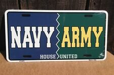 Navy Army House United Wholesale Metal Novelty Wall Decor License Plate