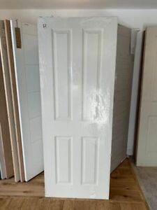"""DIC7460 Howdens Donnington Smooth 4 Panel 2'6"""" Moulded Door"""