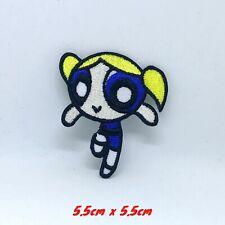 The Powerpuff Girls superhero cartoon Blue Iron/Sew on Embroidered Patch #1401