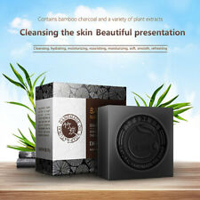 Black Bamboo Charcoal Soap Treatment Skin Care Face Body Clear Whitening Soa_hg