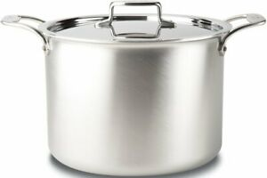 All-Clad D55512 D5 Brushed 5-Ply Dishwasher Safe 12-qt Stock Pot with lid