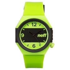 New Neff Stripe Wrist Watch Lime Black