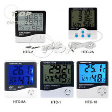 LCD Thermometer Hygrometer Weather Station Temperature Humidity Desk Clock