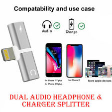 Headphone Jack Adapter for iPhone Charging Adapter Splitter  (Audio + Charge)