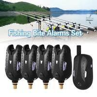 Lixada 4+1 Wireless Digital Fishing Alarm Set Fishing Receiver Alert 16 LEDs