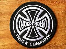 BLACK INDEPENDENT TRUCKS CO - Iron on / Sew on Skateboard Patch