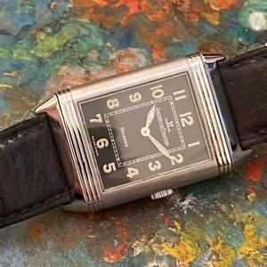 JAEGER LECOULTRE REVERSO GRANDE TAILLE SHADOW 271.8.61 STAINLESS STEEL WATCH
