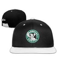 Starbucks Stitch Coffee Hip Hop Hat Baseball Cap White