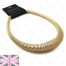 BIG GRADUATED COIL snake choker GOLD FASHION NECKLACE retro thick texture chain