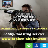 Call of Duty: Modern Warfare Boost Bot Lobby Hardcore kill confirmed PS4/XBOX/PC