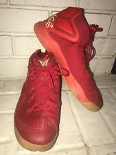 13e9bac35e117e Nike JORDAN MELO Men s M12 BIG APPLE Basketball Red Gold Tan Sz 12 827176 69