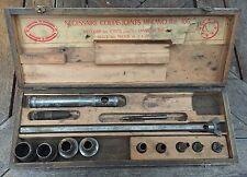 rare outil metier poincon MEKANO emporte piece compas cordonnier plombier meuble