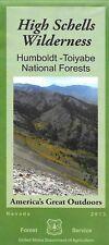 Map High Schells Wilderness, Humboldt-Toiyabe National Forests, Nevada,  USFS