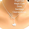 Magic Dove Necklace,clean evil eye,curses,protects you Spell
