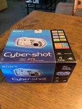 SONY DIGITAL CAMERA CYBER SHOT DSC-P73 MPEG MOVIE W/ box battery charger CD EUC