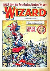 WIZARD - 6th JANUARY 1962 (2 - 8 Jan) RARE 60th BIRTHDAY GIFT !! VG+ beano eagle
