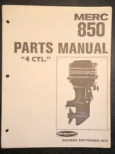 1973 Mercury Merc 850, Outboard Motor Parts Manual List Catalog, 4 Cylinder,85hp