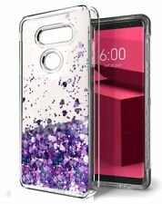 Shiny Glitter Moving Quicksand Liquid Clear Soft Silicone Case Cover For LG G6