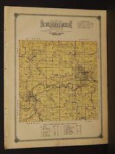 Minnesota Fillmore County Map 1915 Rushford Township W3#49