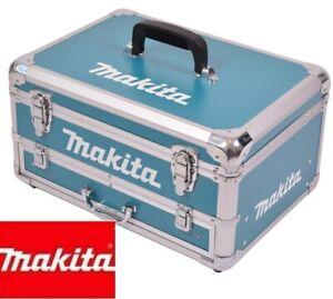 Makita Alu Schubladenkoffer 823324-5 Koffer incl. Einlagen blau NEU OVP